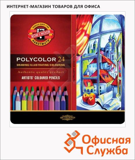 фото: Набор цветных карандашей Koh-I-Noor Polycolor 24 цвета художественные