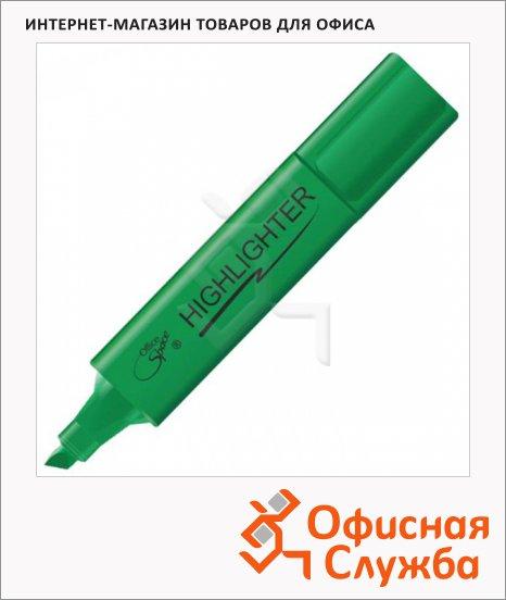 Текстовыделитель Office Space зеленый, 1-5мм, скошенный наконечник