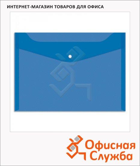 фото: Папка-конверт на кнопке Office Space синяя А4, Fmk12-5