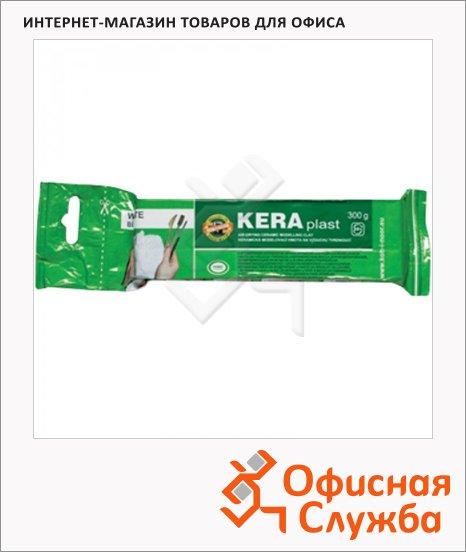 Глина для лепки Koh-I-Noor Keraplast 300г, вакуумированная, белая