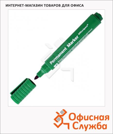 фото: Маркер перманентный Office Space 8004 зеленый 2мм, пулевидный наконечник