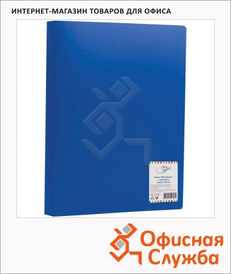 Папка пластиковая с зажимом Office Space синяя, А4, 15мм, FC2_308