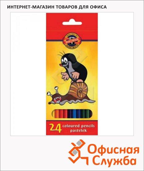 Набор цветных карандашей Koh-I-Noor Крот 24 цвета, 3654