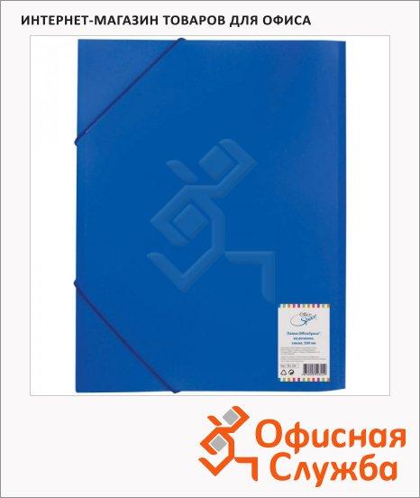 Пластиковая папка на резинке Office Space синяя, A4, FE2_324