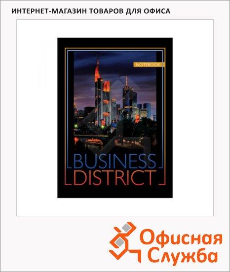 фото: Блокнот Office Space Офис Business District А5, 60 листов, в клетку, на спирали, мелованный картон, твердая обложка
