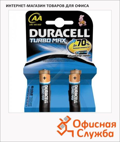 Батарейка Duracell Turbo Max AA/LR6, 1.5В, алкалиновые, 2шт/уп