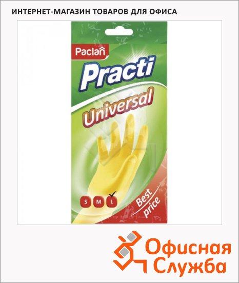 Перчатки резиновые Paclan Universal р. L, желтые