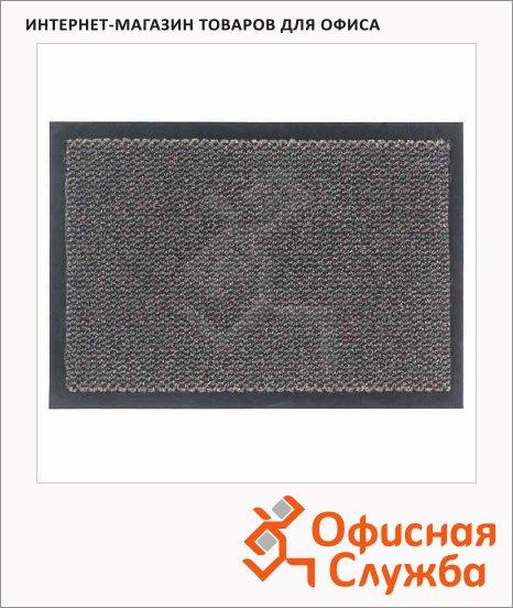 фото: Коврик придверный Экомоп ворсовый 90х150см, серо-коричневый