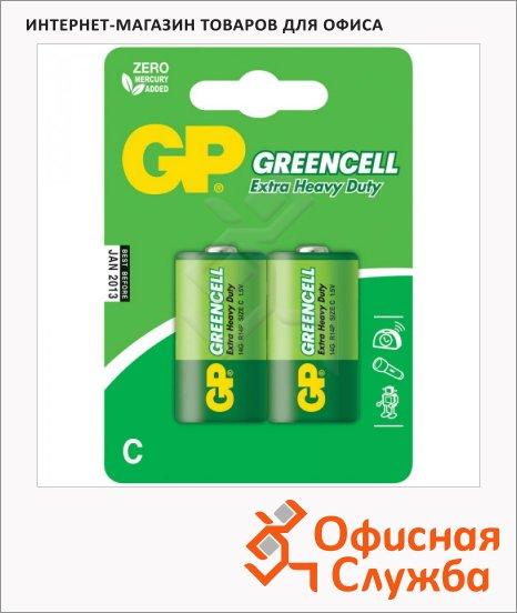 фото: Батарейка Gp Greencell C/R14 1.5В, алкалиновые, 2шт/уп