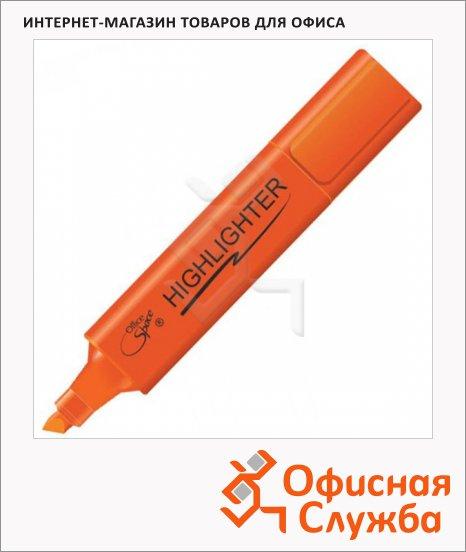 Текстовыделитель Office Space оранжевый, 1-5мм, скошенный наконечник