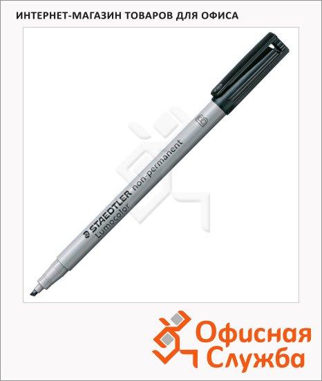 Маркер стираемый Staedtler Lumocolor черный, 1-2.5мм, круглый наконечник