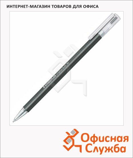 фото: Ручка шариковая автоматическая Staedtler Triplus Ball черная 0.5мм