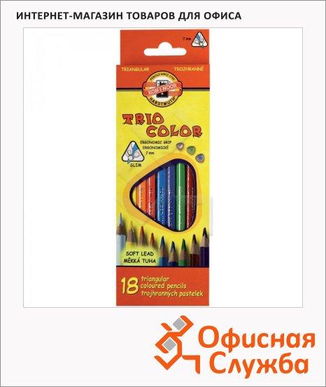 Набор цветных карандашей Koh-I-Noor Tricolor 12 цветов, 3133