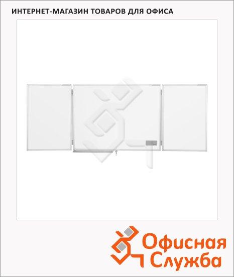 Доска магнитная маркерная Magnetoplan 1240303 90х60см, белая, эмалевая, двустворчатая