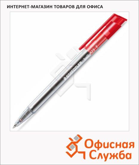 Ручка шариковая автоматическая Staedtler Ball F красная, 0.3мм