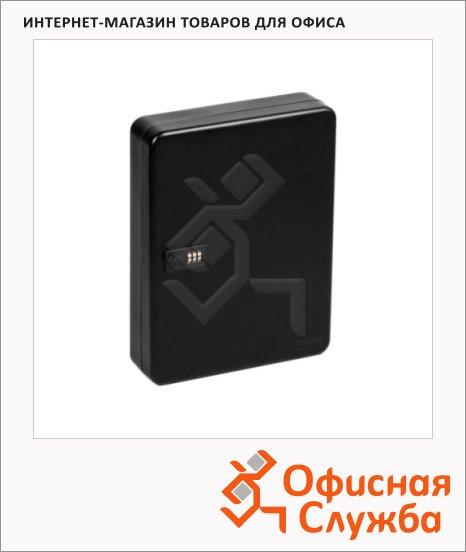 фото: Шкафчик для ключей Office Force на 60 ключей кодовый замок, черный, 370х280х80мм