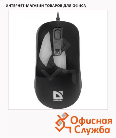 фото: Мышь проводная оптическая USB Defender Datum MB-060 1000/1600dpi, черная