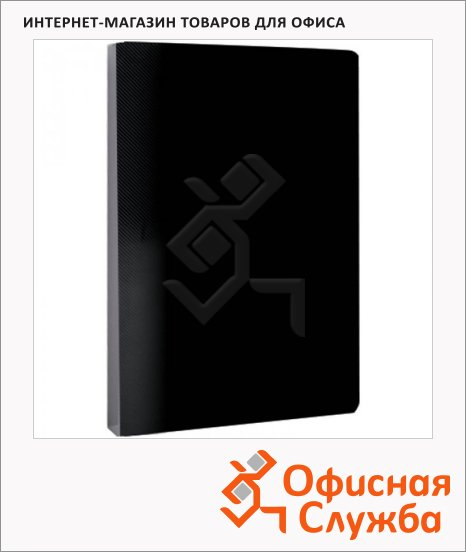 фото: Папка файловая Line черная А4, на 30 файлов, AVn_30401
