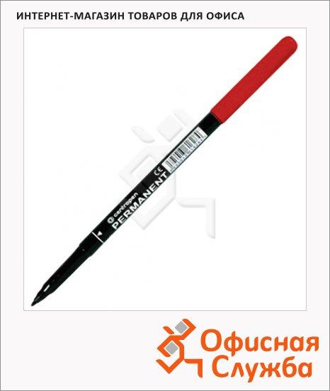 фото: Маркер перманентный Centropen 2536 красный 1мм, пулевидный наконечник