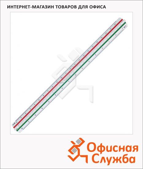 фото: Линейка масштабная Staedtler Mars 561 1:100/200/250/300/400/500 с редукционной шкалой
