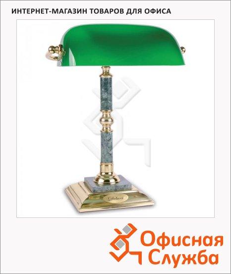 фото: Светильник настольный Delucci зеленый мрамор