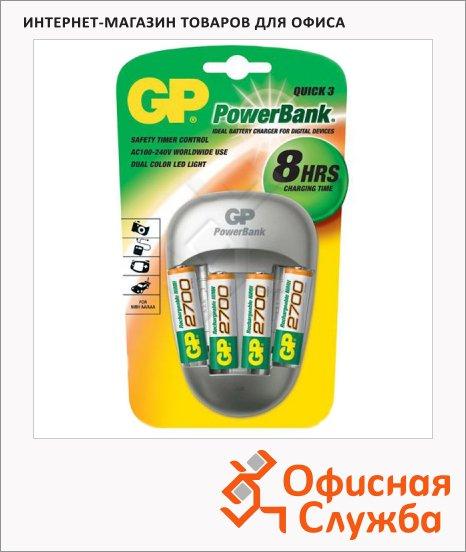 Зарядное устройство для аккумуляторов Gp PB27 для 4 акк.  AA/AAA, 4 аккум АА2700mAh