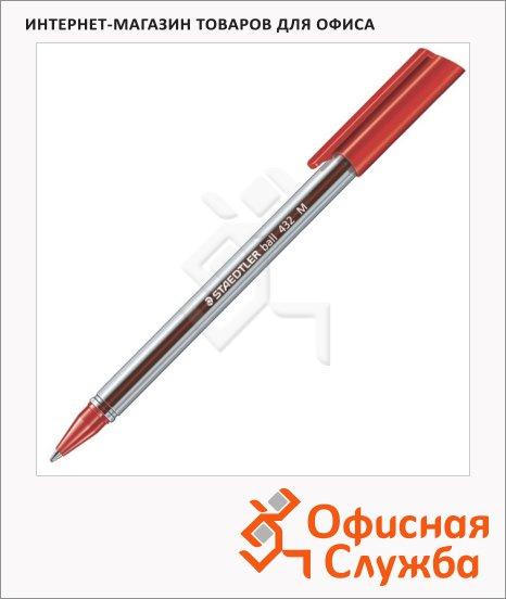 Ручка шариковая Staedtler Ball красная, 0.5мм