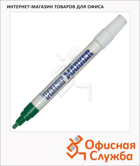 Маркер-краска Munhwa зеленый, пулевидный наконечник, нитро-основа, 4 мм