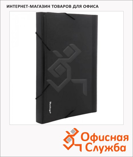 Пластиковая папка на резинке Berlingo Standard черная, A4, 13 разделов, ANp_04111