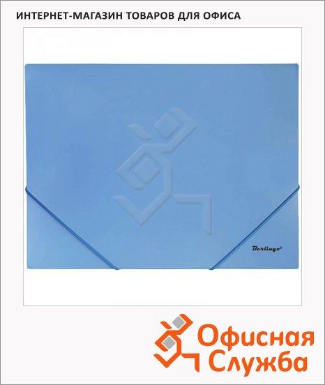 Пластиковая папка на резинке Berlingo Standard синяя, А4