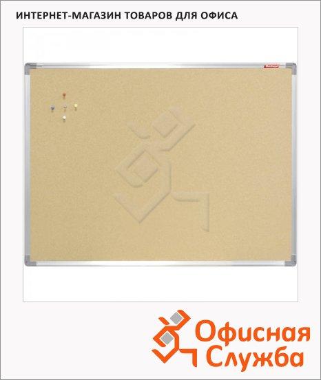 Доска пробковая Berlingo 45х60см, коричневая, алюминиевая рама