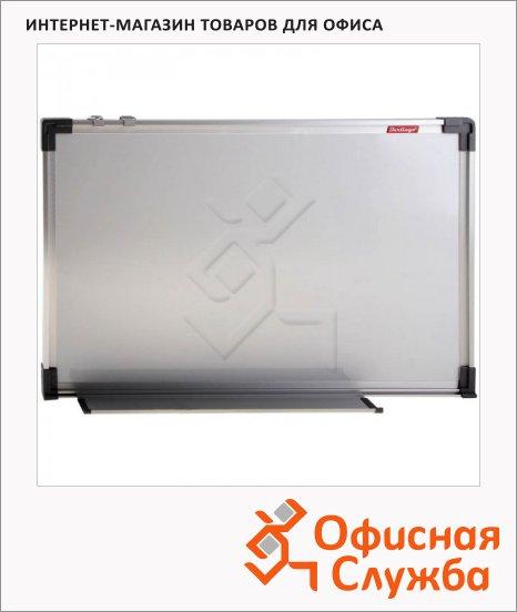 Доска магнитная маркерная Berlingo 60х90см, белая, пластик, алюминиевая рама, полочка