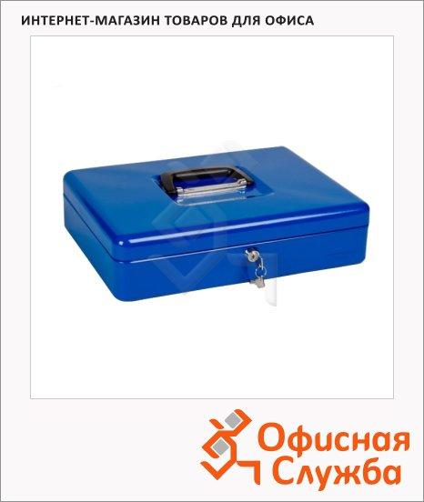 Кэшбокс Office Force 370х280х90мм, ключевой замок, синий