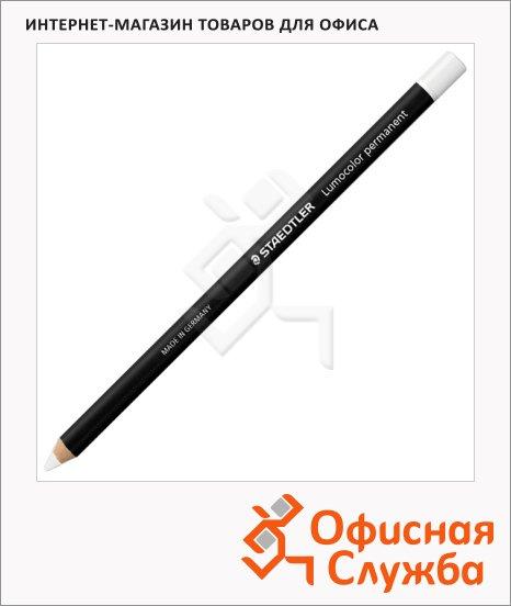 Карандаш перманентный Staedtler Lumocolor белый