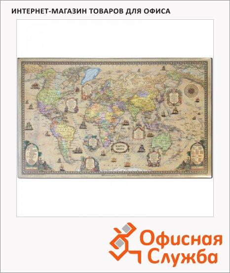фото: Коврик настольный для письма Officespace 38x59см карта ретро