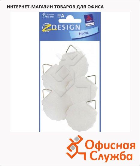 Этикетки-подвесы Avery Zweckform 3731, белые, d=40мм, 5шт на листе, 1 лист, 5шт
