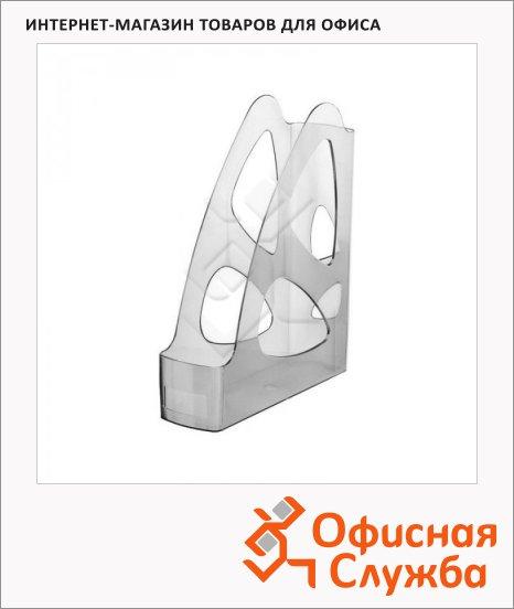 фото: Накопитель вертикальный для бумаг Стамм Парус А4 80мм, серый тонированный, ЛТ135