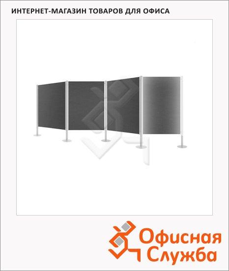 Стенд презентационный Magnetoplan 120х150см, серый, текстильный, 5 восьмигранных стоек