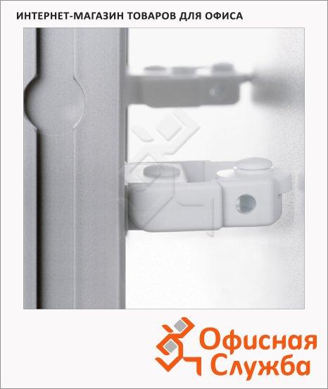 фото: Ролики опорные для системных досок Magnetoplan 1111547 2шт белые, пластиковые, фиксатор расстояния от стены
