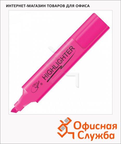 Текстовыделитель Office Space розовый, 1-5мм, скошенный наконечник