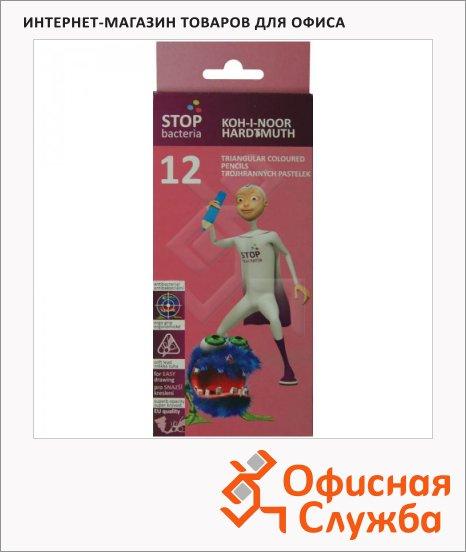 фото: Набор цветных карандашей Koh-I-Noor 12 цветов бактерицидные