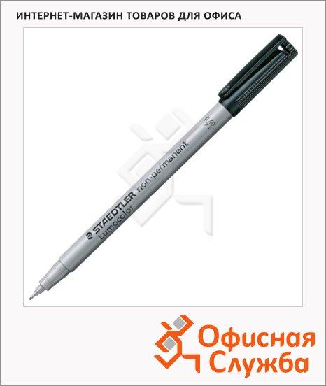 Маркер стираемый Staedtler Lumocolor черный, 0.4мм, круглый наконечник