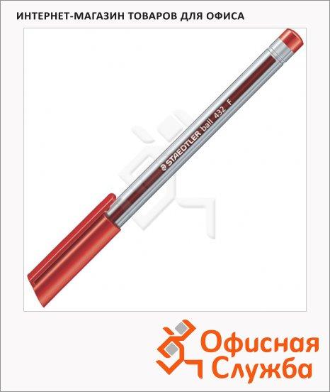 фото: Ручка шариковая Staedtler Ball F красная 0.3мм