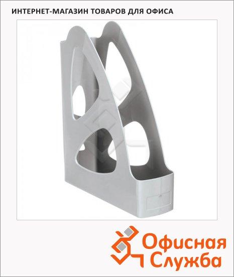 Накопитель вертикальный для бумаг Стамм Парус А4, 70мм, серый, ЛТ131