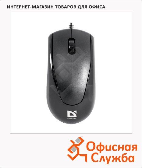 Мышь проводная оптическая PS/2 Defender Optimum MB-150, 800dpi, черная