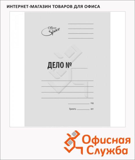 Скоросшиватель картонный Office Space Дело белый, А4, A-SD30M_345