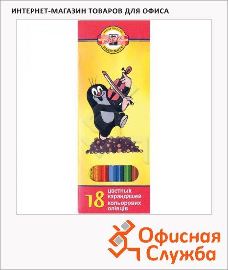 Набор цветных карандашей Koh-I-Noor Крот 18 цветов, 3653
