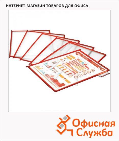 Панель для демосистем Berlingo А4, антибликовая, красная