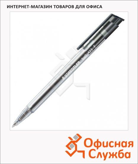 Ручка шариковая автоматическая Staedtler Ball F черная, 0.3мм