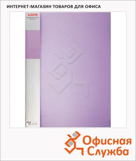Папка пластиковая с зажимом Berlingo Diamond фиолетовая, А4, 17мм, ACp_01007